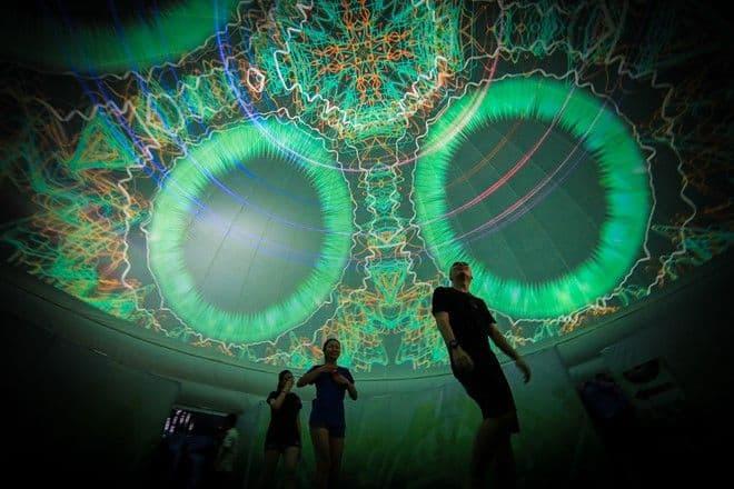 Heineken Green Room - Dome projection visuals
