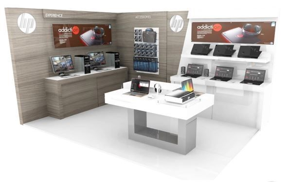 Hewlett Packard Store Design
